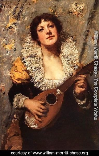 William Merritt Chase - The Mandolin Player