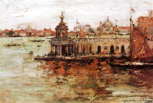 William Merritt Chase - Venice: View of the Navy Arsenal