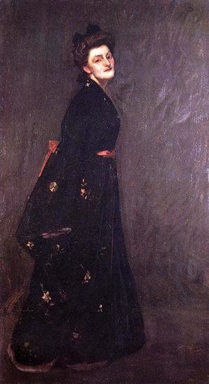 William Merritt Chase - The Black Kimono