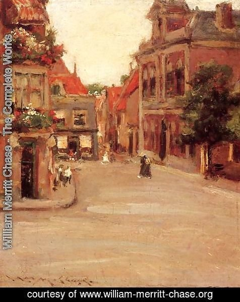William Merritt Chase - The Red Roofs of Haarlem (or A Street in Holland)