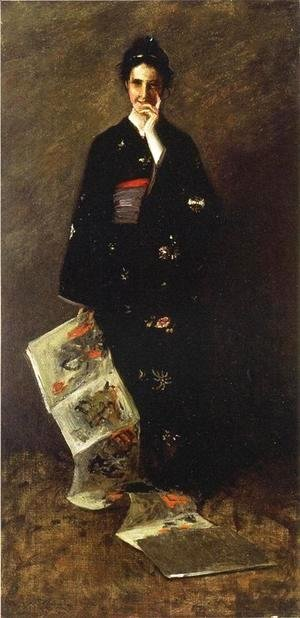 William Merritt Chase - The Japanese Book