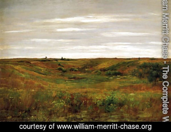 William Merritt Chase - Landscape: A Shinnecock Vale