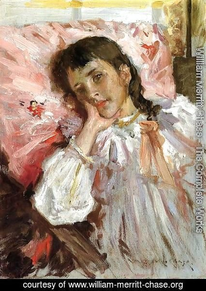 William Merritt Chase - Tired (or Portrait of the Artist's Daughter)