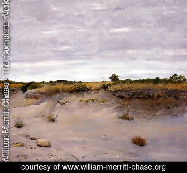 William Merritt Chase - Wind Swept Sands, Shinnecock, Long Island