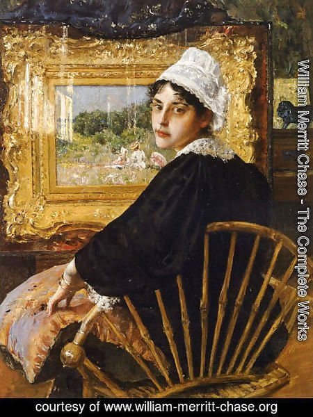 William Merritt Chase - A Study aka The Artist's Wife