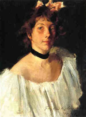 Portrait of a Lady in a White Dress (or Miss Edith Newbold)