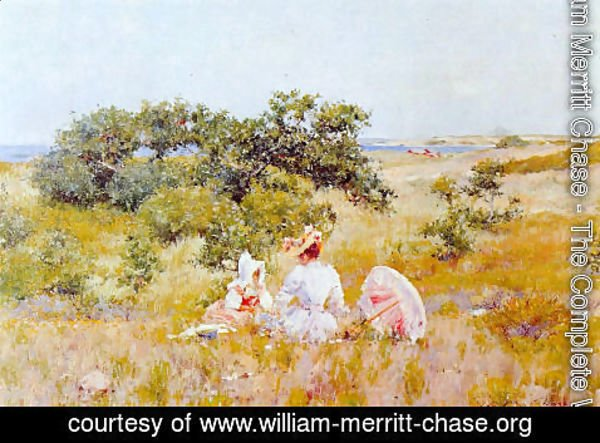 William Merritt Chase - The Fairy Tale (or A Summer Day)
