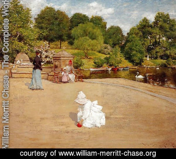 William Merritt Chase - A Bit of the Terrace aka Early Morning Stroll