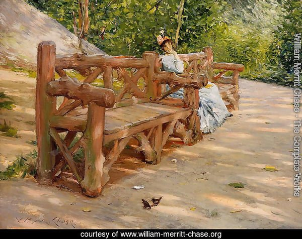 Park Bench (or An Idle Hour in the Park - Central Park)