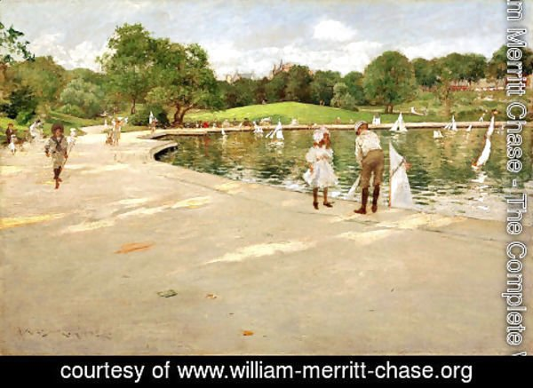 William Merritt Chase - The Lake for Miniature Yachts (or Central Park)