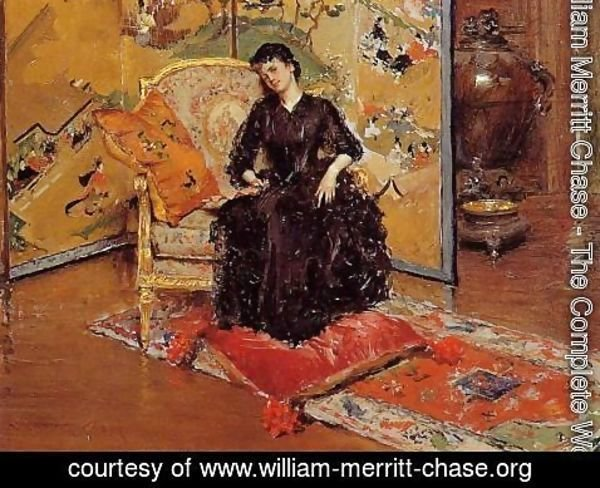 William Merritt Chase - Weary (or Who Rang?)