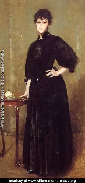 William Merritt Chase - Lady in Black (or Mrs. Leslie Cotton)