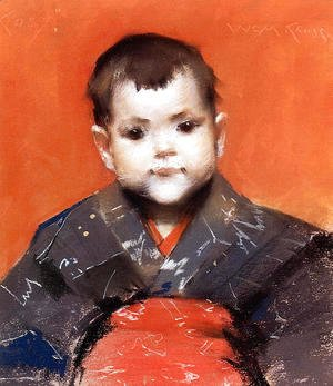 William Merritt Chase - My Baby (or Cosy)