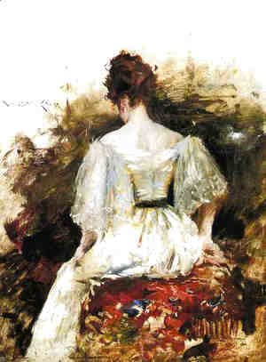 William Merritt Chase - Portrait of a Woman: The White Dress