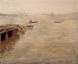 William Merritt Chase - Seashore (or A Grey Day)