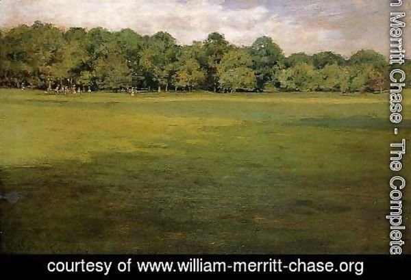 William Merritt Chase - Prospect Park (or Croquet Lawn, Prospect Park)