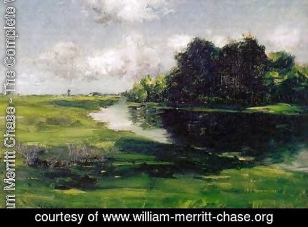 William Merritt Chase - Long Island Landscape after a Shower of Rain