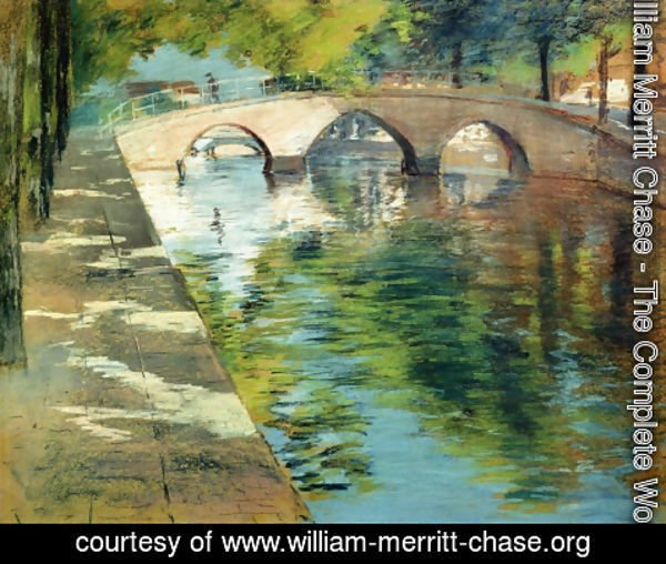 William Merritt Chase - Reflections (or Canal Scene)