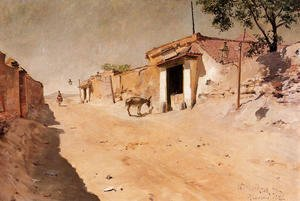 William Merritt Chase - Spanish Village