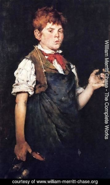 William Merritt Chase - The Apprentice (or Boy Smoking)
