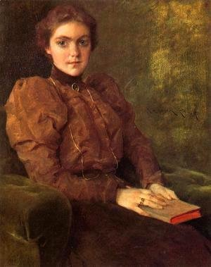 William Merritt Chase - A Lady in Brown