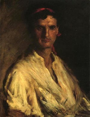 William Merritt Chase - A Young Roman