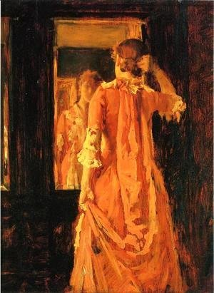 William Merritt Chase - Young Woman Before a Mirror