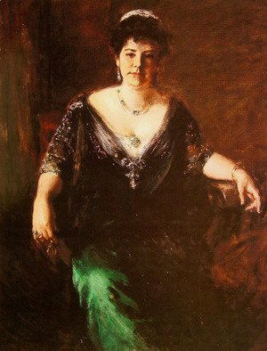 William Merritt Chase - Portrait of Mrs William Merritt Chase