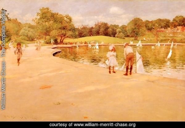 Lilliputian Boat-Lake - Central Park (or Lilliputian Boats in the Park; Central Park)