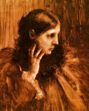 William Merritt Chase - Reverie: A Portrait of a Woman