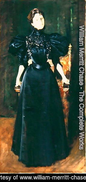 Portrait of a Lady in Black, c.1895