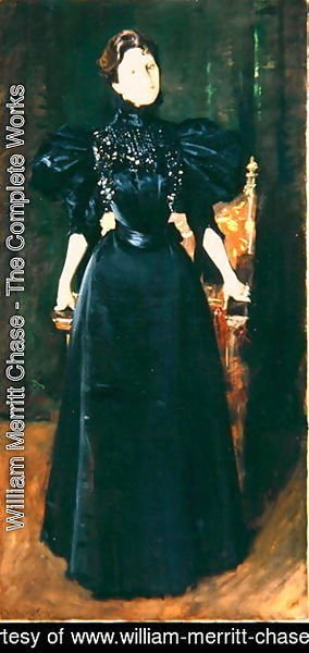 William Merritt Chase - Portrait of a Lady in Black, c.1895
