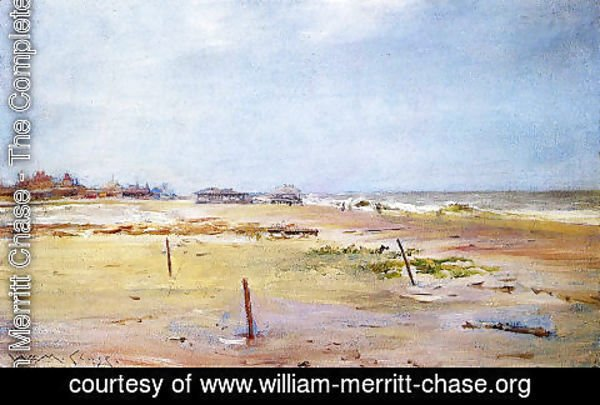William Merritt Chase - Beach Scene