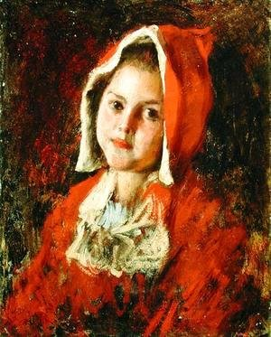 William Merritt Chase - Little Red Riding Hood