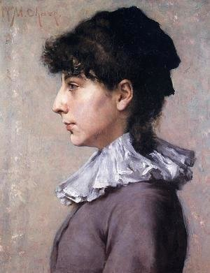William Merritt Chase - Portrait of Virginia Gerson