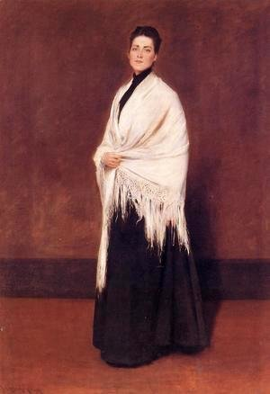 William Merritt Chase - Portrait of Lady C.
