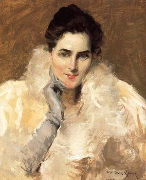 William Merritt Chase - Portrait of a Lady 2
