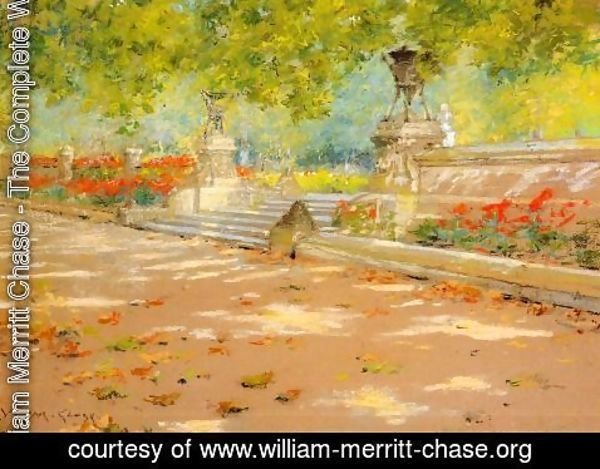 William Merritt Chase - Terrace, Prospect Park
