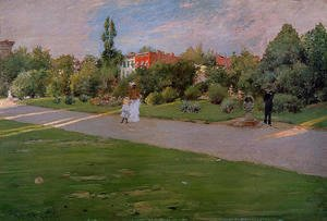 William Merritt Chase - Prospect Park, Brooklyn I