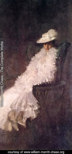 William Merritt Chase - My Daughter Dieudonnee