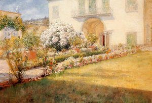 William Merritt Chase - A Florentine Villa