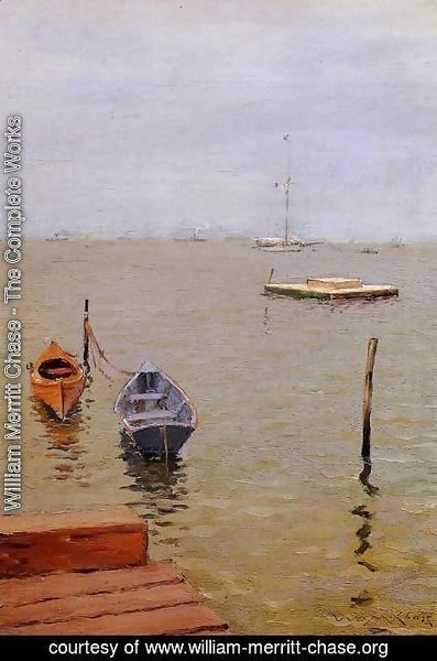 William Merritt Chase - A Stormy Day, Bath Beach