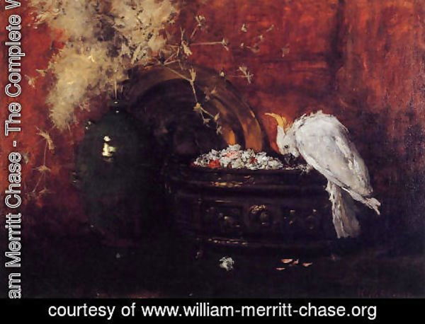 William Merritt Chase - Still Life with Cockatoo