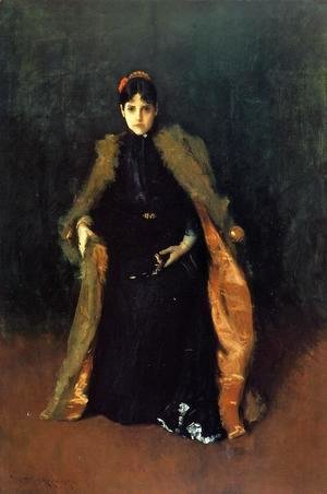 William Merritt Chase - Portrait of Mrs C. (Alice Gerson Chase)
