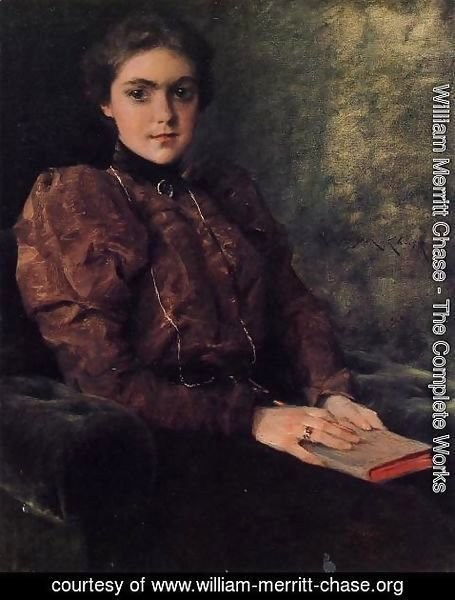 William Merritt Chase - Portrait of Miss F. Deforest