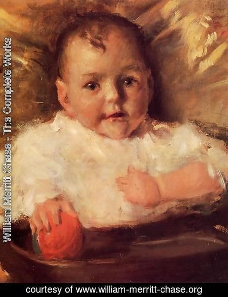 William Merritt Chase - Bobbie: A Portrait Sketch 2