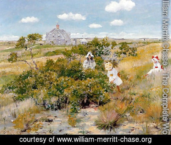 William Merritt Chase - The Bayberry Bush