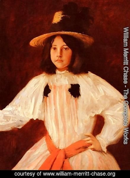 William Merritt Chase - The Red Sash