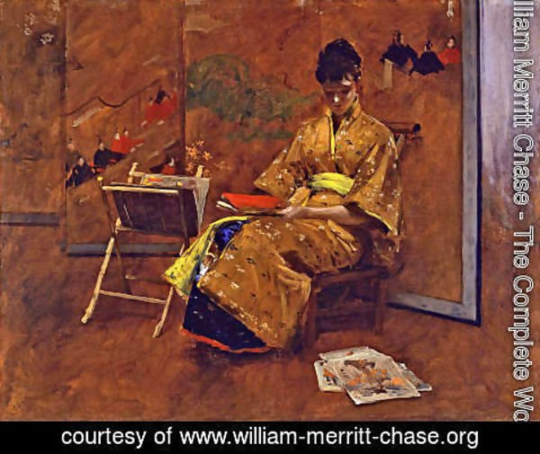 William Merritt Chase - The Kimono