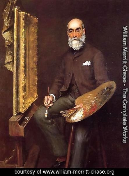 William Merritt Chase - Portrait of Worthington Whittredge